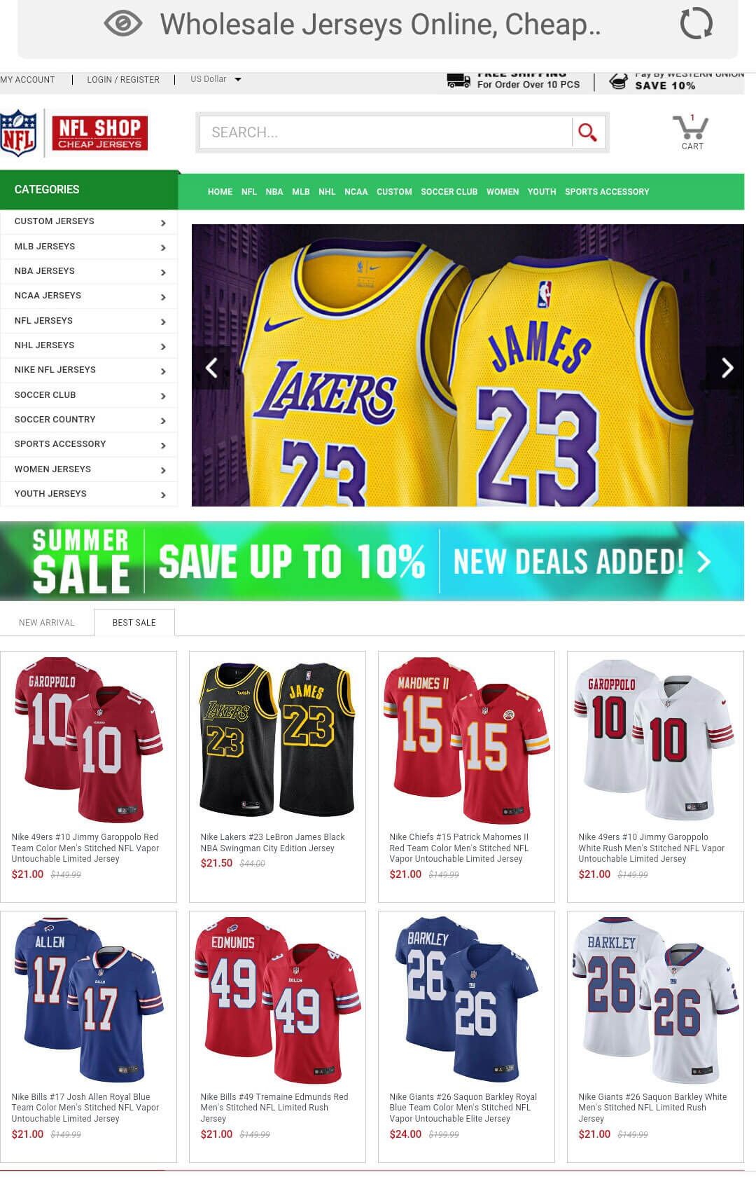 Cheap Jerseys Store